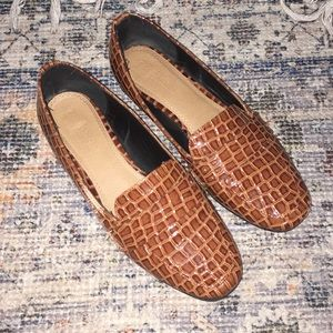 Faux Alligator Skin Shoes